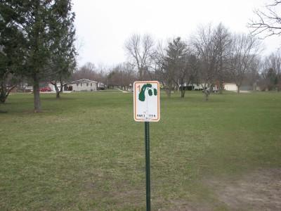 Lincoln Park, Main course, Hole 1 Hole sign