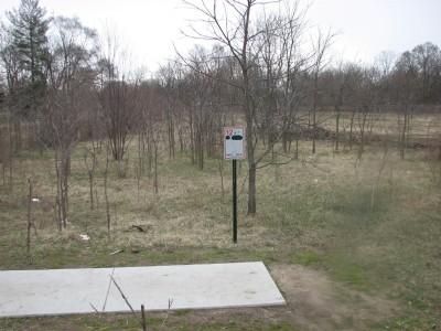 Lincoln Park, Main course, Hole 12 Hole sign