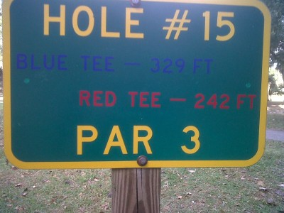 Floral Park, Main course, Hole 15 Short tee pad