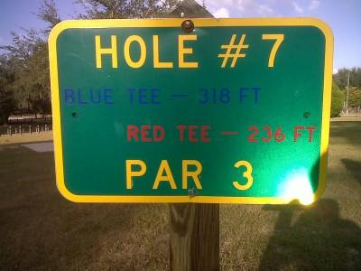 Floral Park, Main course, Hole 7 Hole sign
