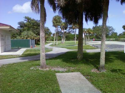 Tradewinds Park, Main course, Hole 15 Tee pad