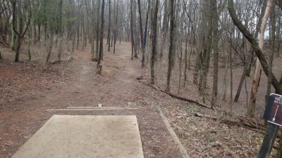 Cold Brook Park, Main course, Hole 9 Tee pad