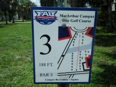 FAU - MacArthur Campus, Main course, Hole 3 Tee pad