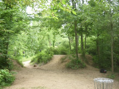Goldenrod Disc Golf Course, Main course, Hole 5 Reverse (back up the fairway)