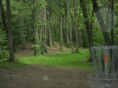 Goldenrod Disc Golf Course, Main course, Hole 10 Reverse (back up the fairway)