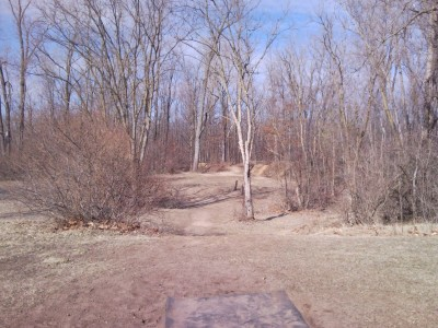 Goldenrod Disc Golf Course, Main course, Hole 5 Tee pad