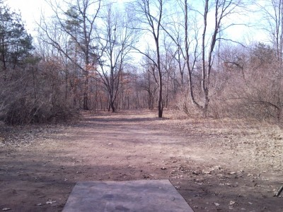 Goldenrod Disc Golf Course, Main course, Hole 8 Tee pad