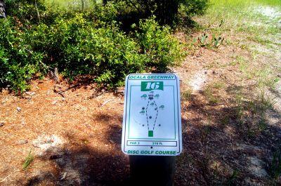 Ocala Greenway, Main course, Hole 16 Hole sign