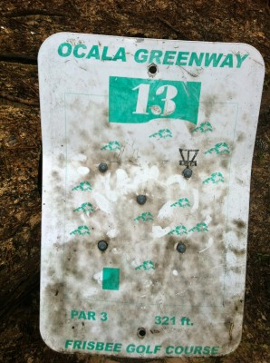 Ocala Greenway, Main course, Hole 13 Hole sign