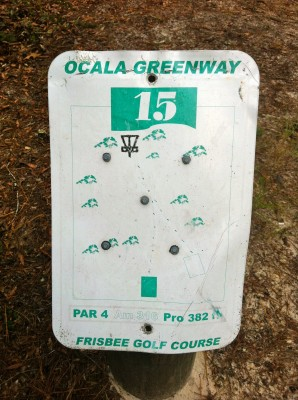 Ocala Greenway, Main course, Hole 15 Hole sign