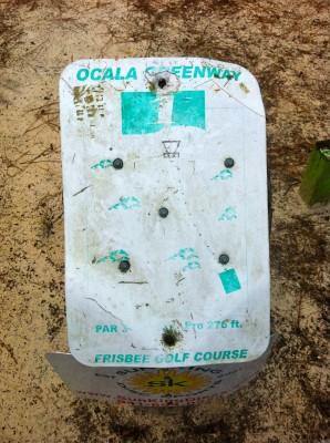 Ocala Greenway, Main course, Hole 1 Hole sign