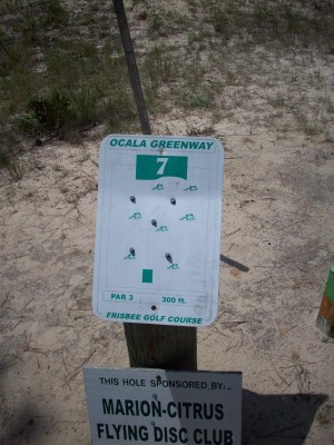 Ocala Greenway, Main course, Hole 7 Hole sign