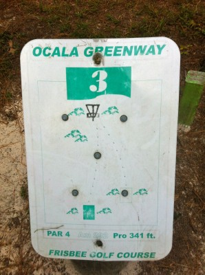 Ocala Greenway, Main course, Hole 3 Hole sign