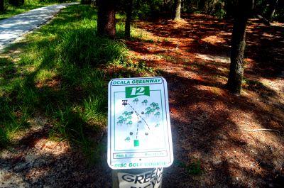 Ocala Greenway, Main course, Hole 12 Hole sign