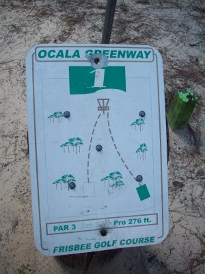 Ocala Greenway, Main course, Hole 1 Hole sign