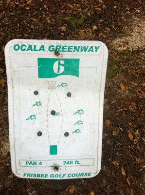 Ocala Greenway, Main course, Hole 6 Hole sign