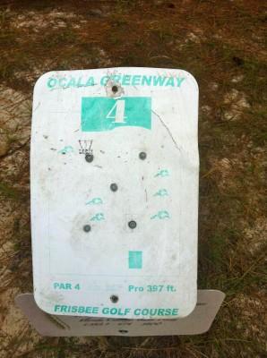 Ocala Greenway, Main course, Hole 4 Hole sign