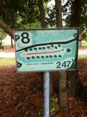 Bill Frederick Park, Turkey Lake , Hole 8 Hole sign