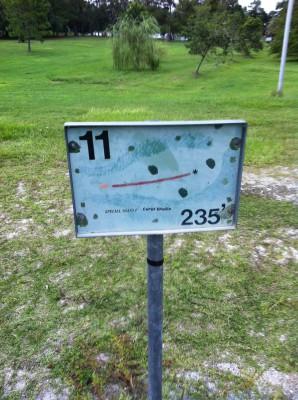 Bill Frederick Park, Turkey Lake , Hole 11 Hole sign