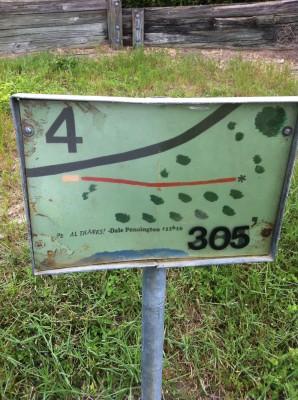 Bill Frederick Park, Turkey Lake , Hole 4 Hole sign