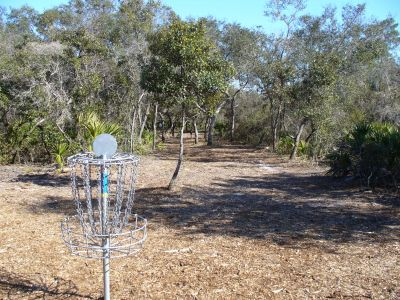 Bill Frederick Park, T2 - The Turkeynator , Hole 1 Reverse (back up the fairway)