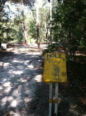 Blue Angel Park, Palmetto, Hole 9 Long tee pad