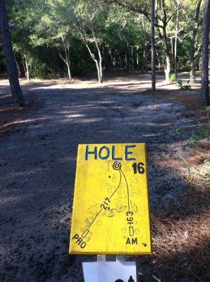 Blue Angel Park, Palmetto, Hole 16 Long tee pad