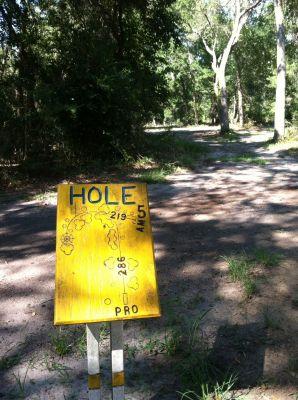 Blue Angel Park, Palmetto, Hole 5 Long tee pad