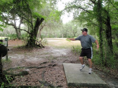 USF Riverfront Park, Main course, Hole 7 Tee pad
