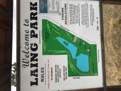 Laing Lake, Main course, Hole 1 Hole sign