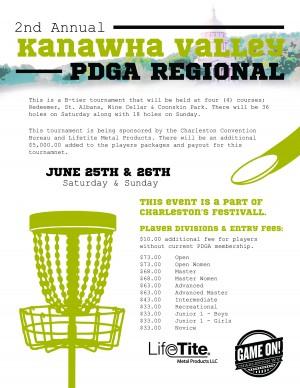 2nd Annual Kanawha Valley PDGA Regional graphic