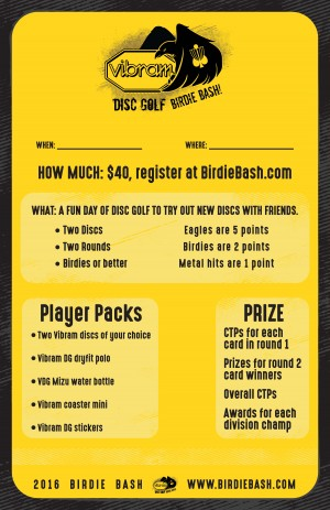 Vibram Birdie Bash at Hawk's Landing graphic