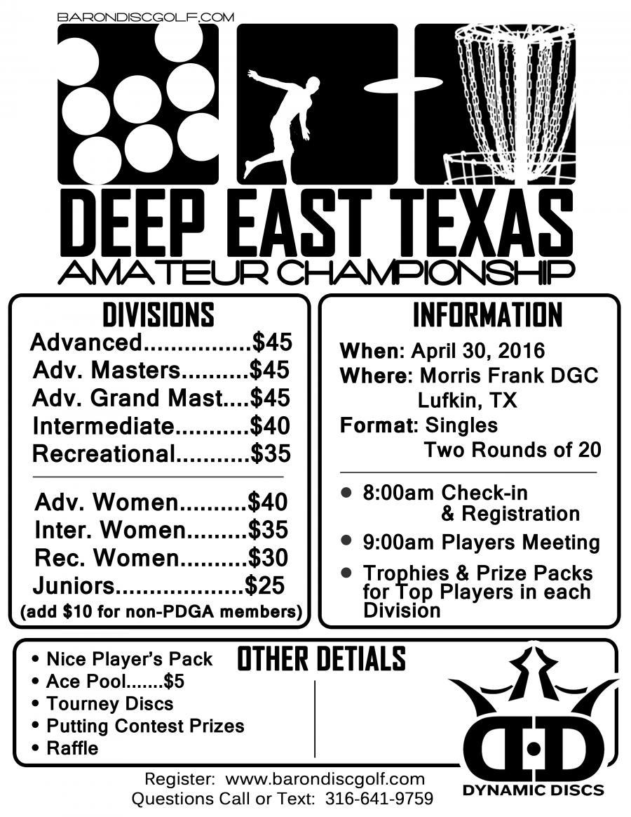 Deep East Texas Amateur Championship 2016 (2016, Baron Discs
