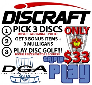 3-Disc Triple Play @ East Roswell Park presented by Sun King / Discraft / DGA (SSS) graphic