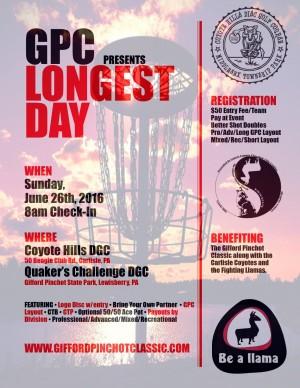 "GPC presents ""Longest Day"" graphic"