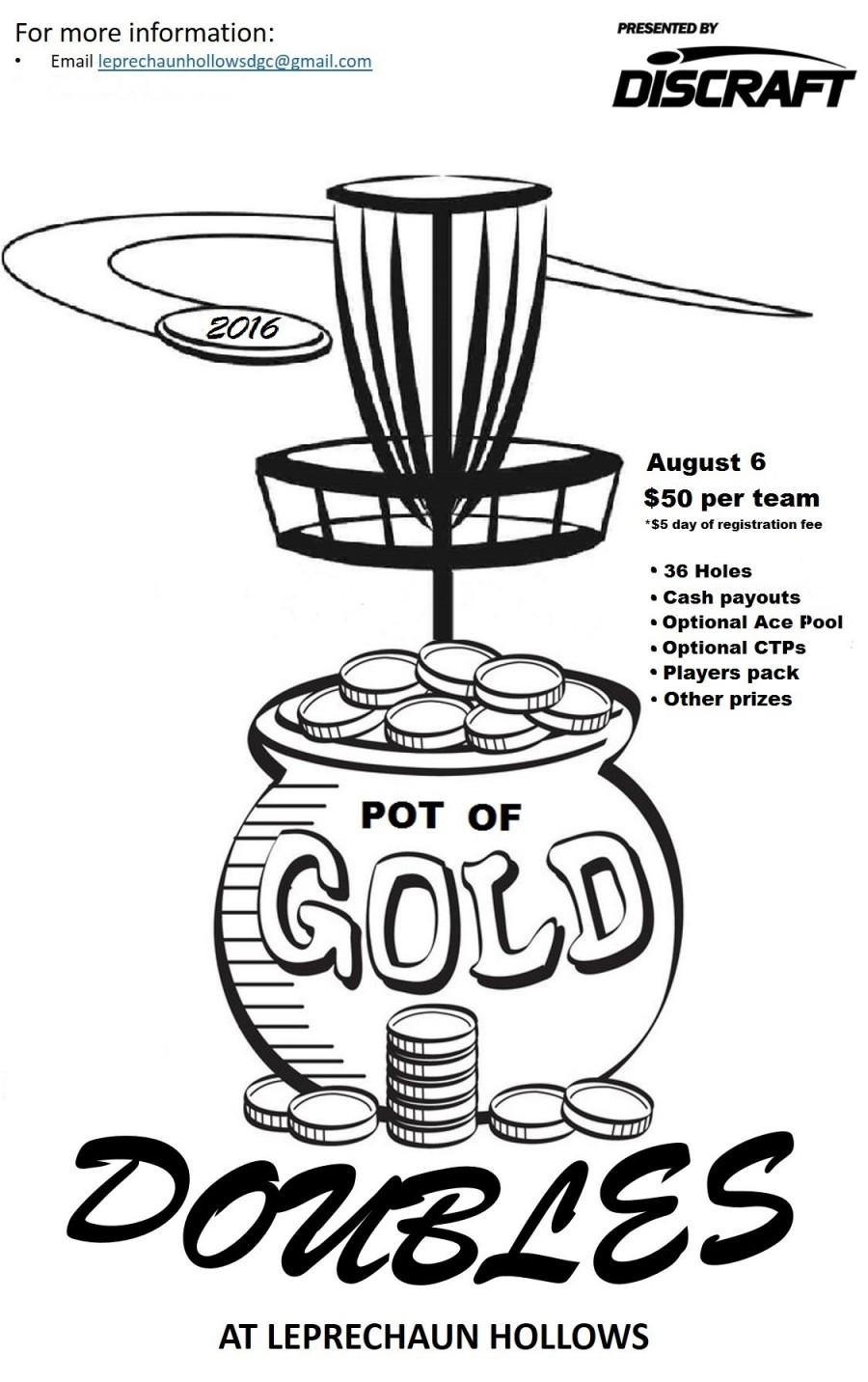 pot of gold doubles 2016 leprechaun hollows disc golf scene