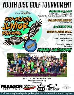 Eagles Wing Disc Golf JUNIOR Mid-Atlantic Regional graphic