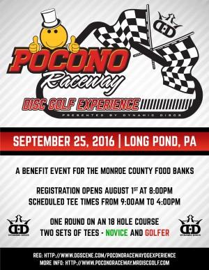 MrDiscGolf's Pocono Raceway Disc Golf Experience presented by Dynamic Discs graphic