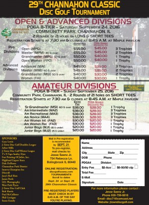 29th Channahon Classic - MS1/Ams graphic