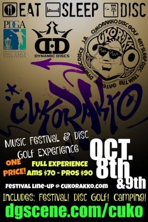Cukorakko Music Festival Disc Golf Tournament Presented by Eat Sleep Disc.com graphic
