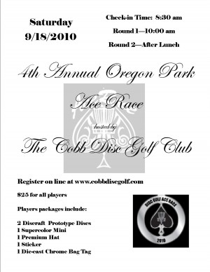 4th Annual Ace Race at Oregon Park graphic