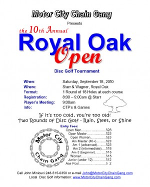 The 10th Annual Royal Oak Open graphic