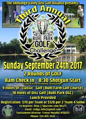3rd Annual Buhl Park Golf Challenge graphic