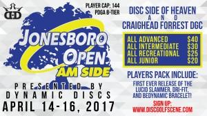 Dynamic Discs Presents: Jonesboro Open (AM side) graphic