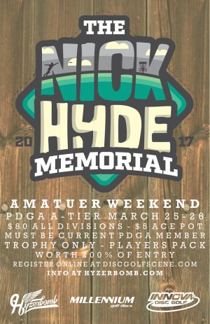 Nick Hyde Memorial - AM Weekend powered by Innova and Hyzerbomb graphic