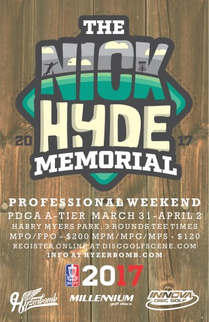 Nick Hyde Memorial - Pro Weekend powered by Innova and Hyzerbomb graphic