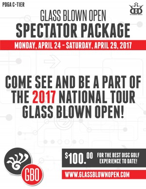 2017 Glass Blown Open Spectator Badge graphic