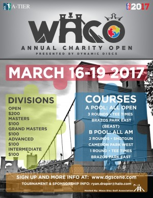 Waco Annual Charity Open presented by Dynamic Discs - DGPT Event graphic