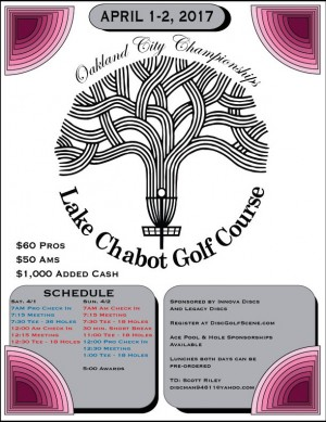 Oakland City Disc Golf Championships graphic