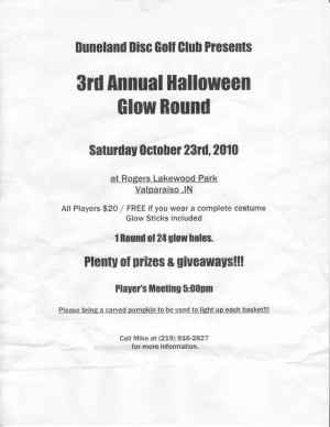 3rd Annual Halloween Glow Round graphic